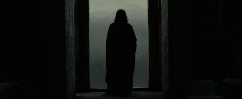 severus rogue, alan rickman de dos harry potter et les reliques de la mort partie 2