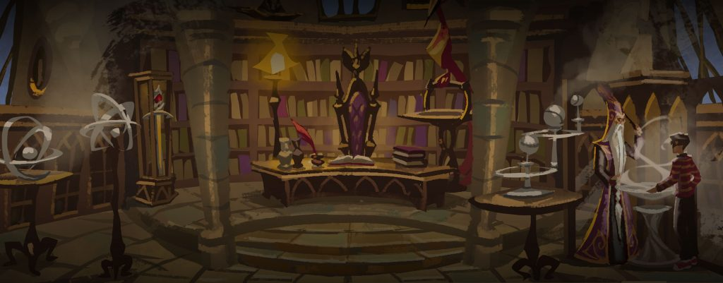 Le Bureau de Dumbledore par Apolar, figurant sur le coffret de l'édition Thaïlandaise 2020