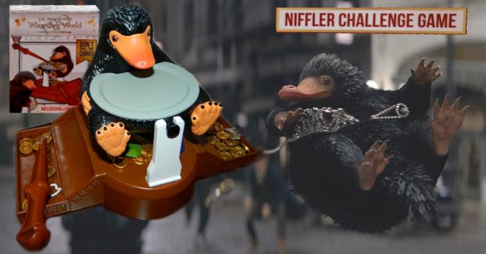 Le défi du niffleur ; jeu de société Animaux fantastiques