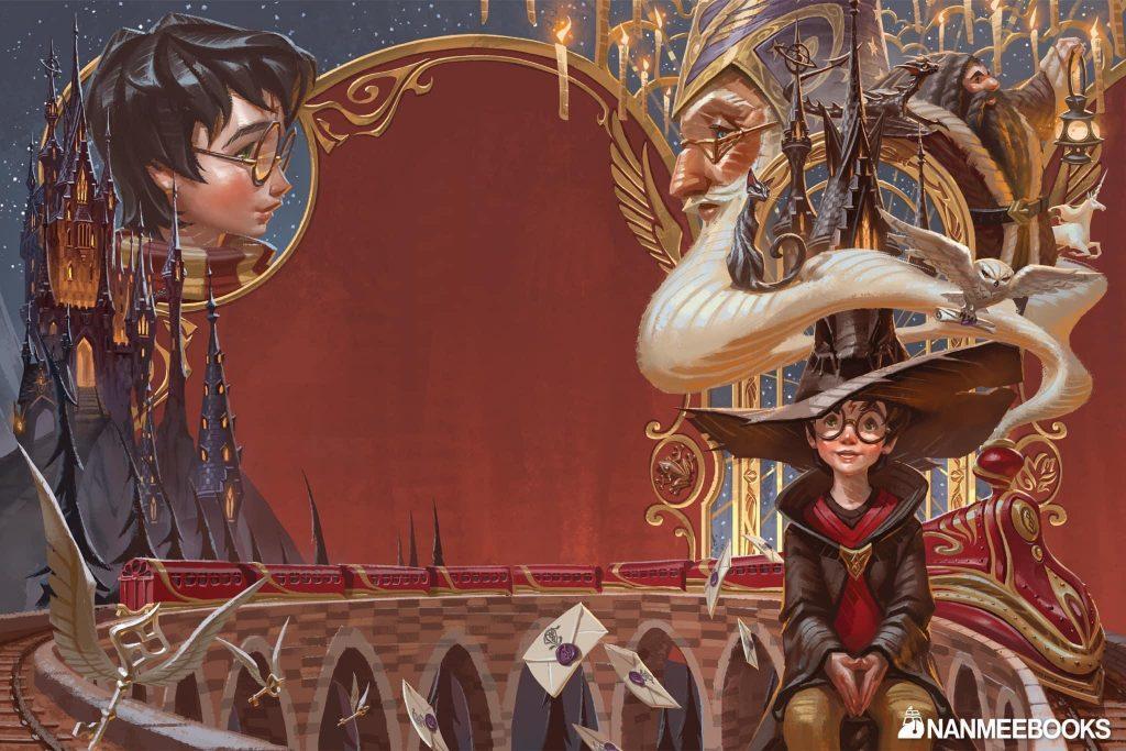 Couverture de Harry Potter à l'école des sorciers en Thaï, par Apolar