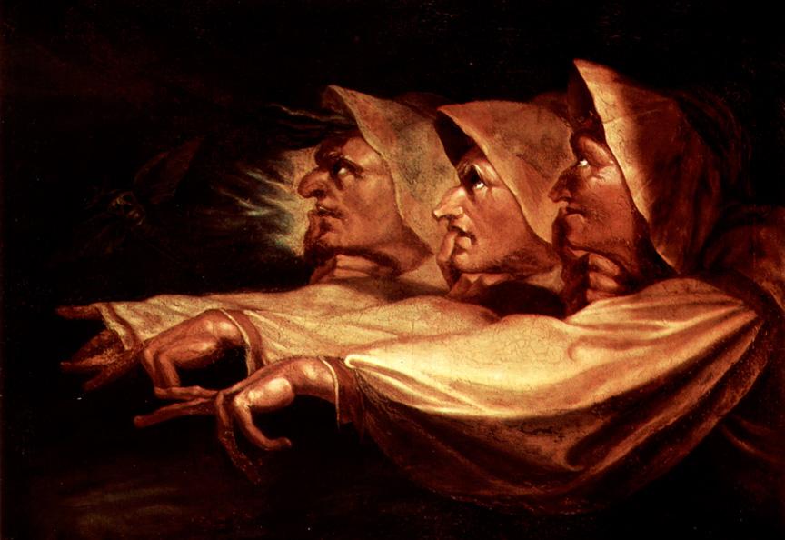 Les trois sorcières selon Johan Heinrich, inspiré de Mac Beth