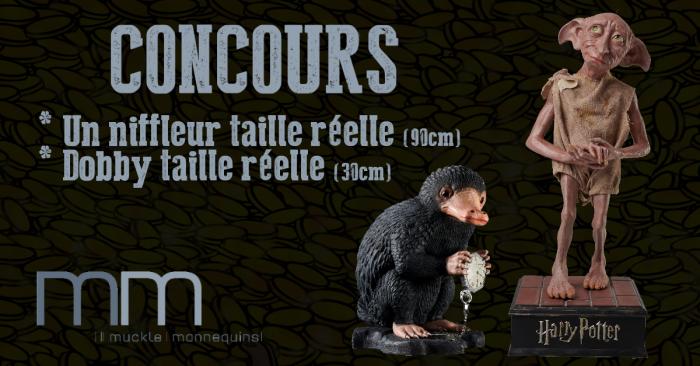 Concours : Gagnez des répliques du niffleur et Dobby par Muckle Mannequins !