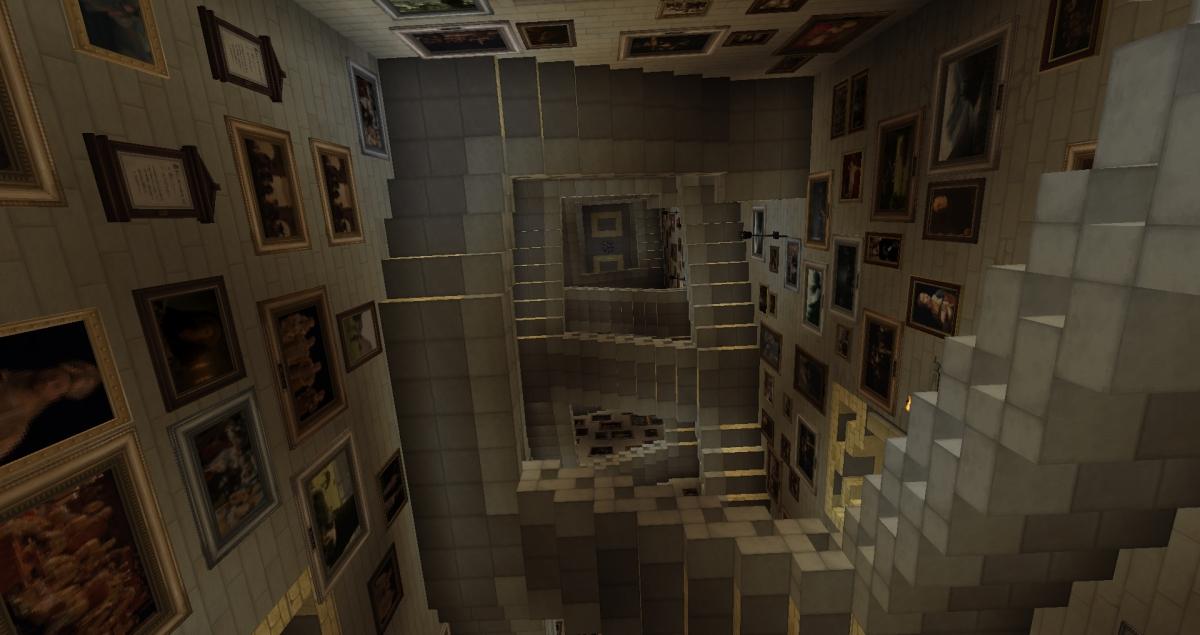 Minecraft - Escaliers de Poudlard