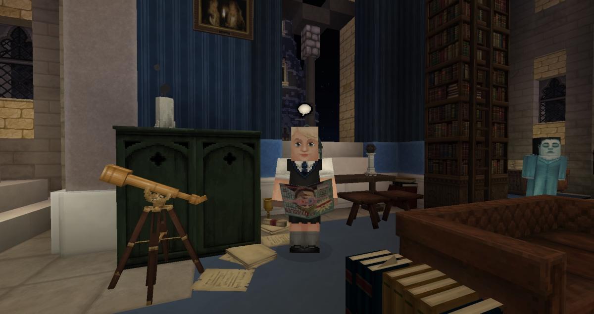 Minecraft - Luna Lovegood dans la Salle Commune de Serdaigle