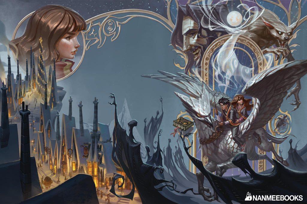 Couverture de Harry Potter et le Prisonnier d'azkaban en Thaï, par Apolar