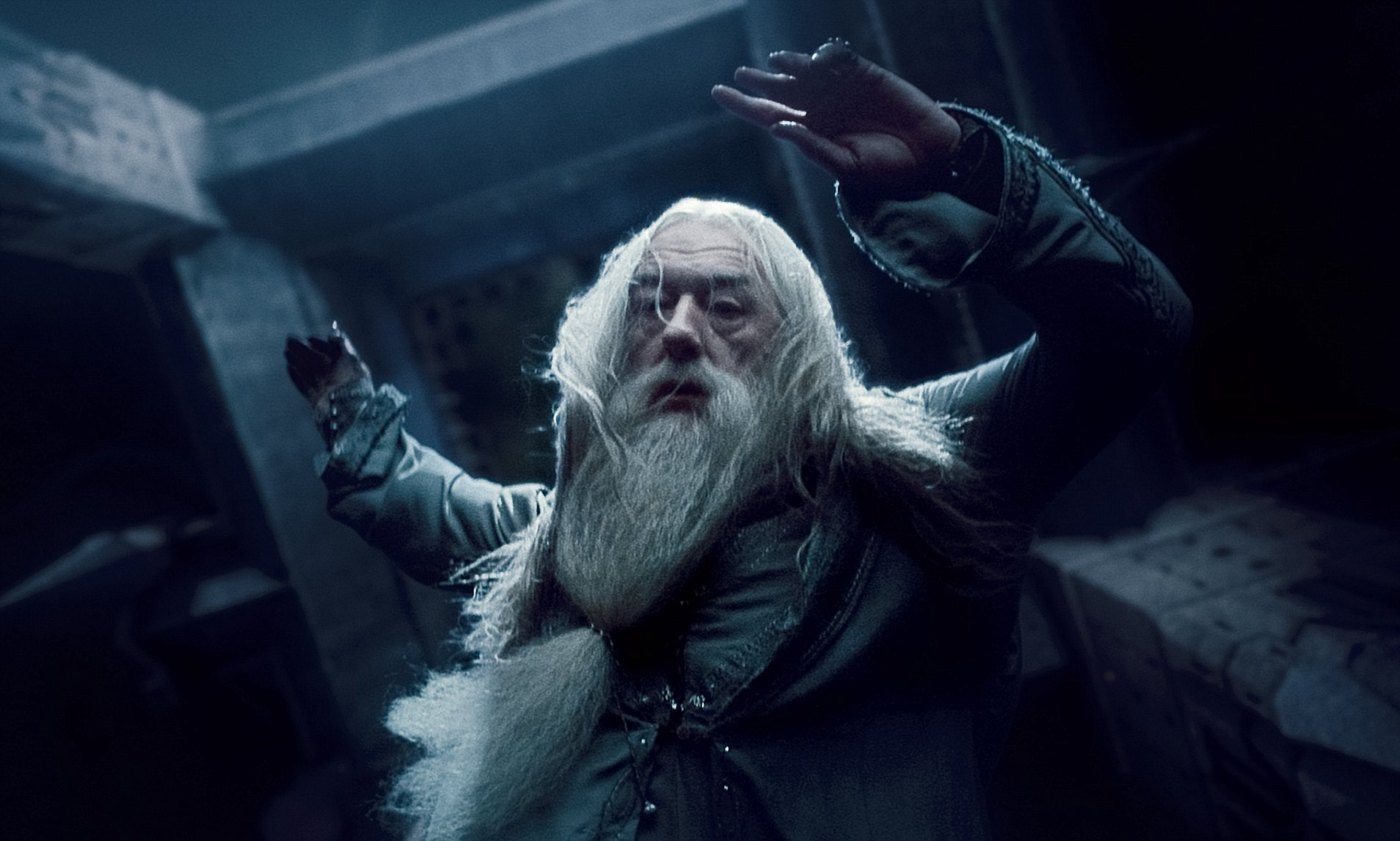 Dumbledore mort tombe de la tour d'astronomie dans Harry Potter et le prince de sang-mêlé