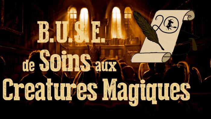 BUSE de Soins aux Créatures Magiques – Session 2020