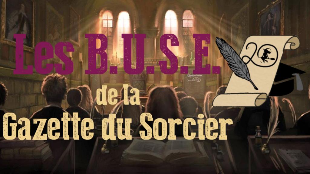 BUSE - examen 20 ans de la Gazette du Sorcier