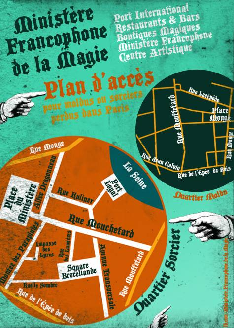 Plan du Quartier Mouchetard, dans le Paris magique