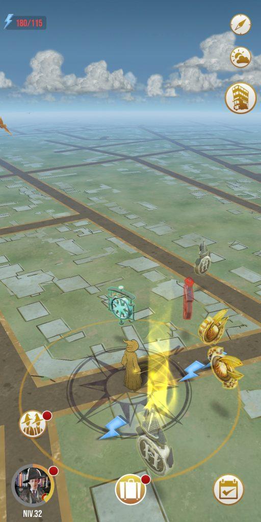 Visuel du jeu Wizards Unite avec icone Magicobus
