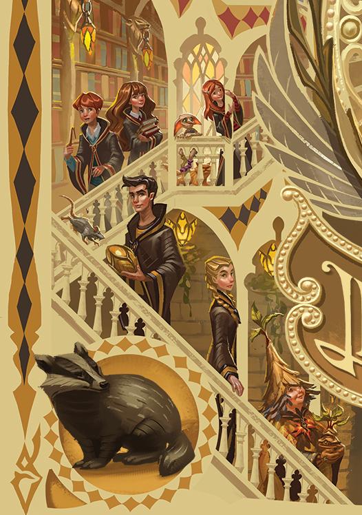 Coin Poufsouffle par Apolar sur le coffret de Harry Potter en Thaï : Cédric Diggory