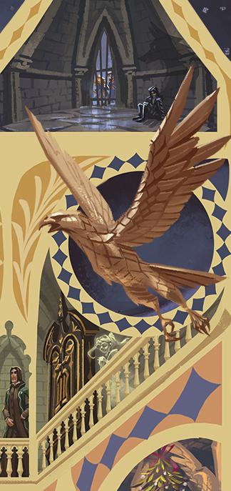 Coin Serdaigle par Apolar sur le coffret de Harry Potter en Thaï : Cho Chang et Luna Lovegood