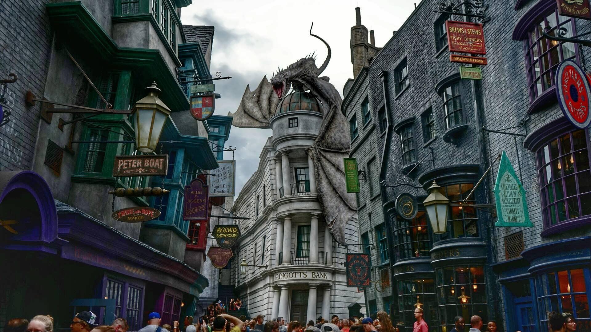 universal orlando chemin de traverse diagon alley dragon