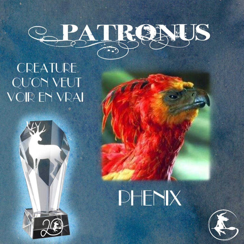 Prix patronus - Meilleure créature du monde de Harry Potter : le Phénix