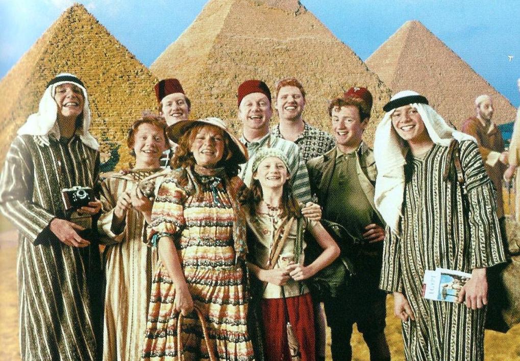 La famille Weasley en Egypte dans les colonnes de la Gazette du Sorcier