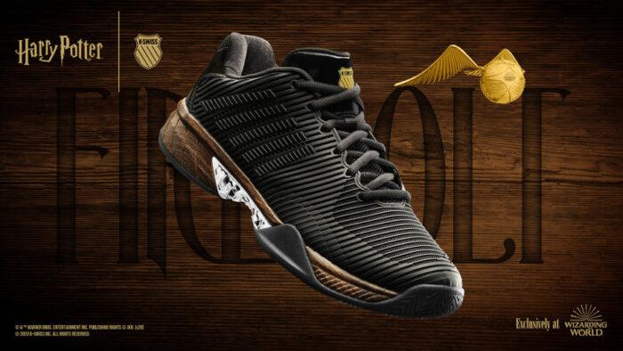 La chaussure «Éclair de Feu», exclusive au fan club Harry Potter
