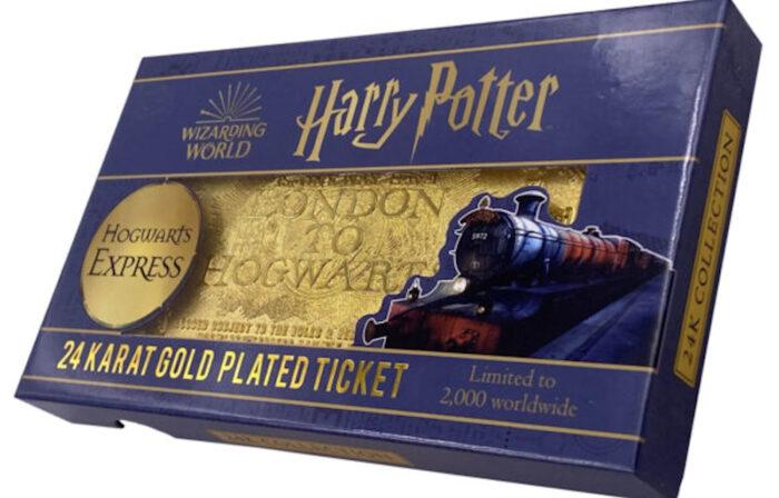 Une réplique du ticket du Poudlard Express qui vaut de l'or !