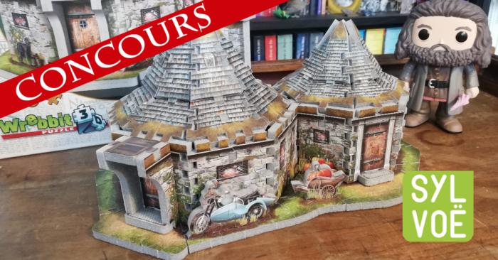Concours – Gagnez un Puzzle Wrebbit 3D de la hutte de Hagrid par Sylvoë