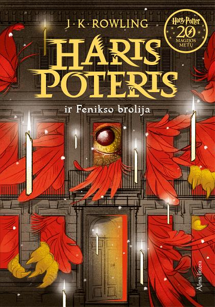 Couverture de Harry Potter et l'Ordre du Phénix Lituanie