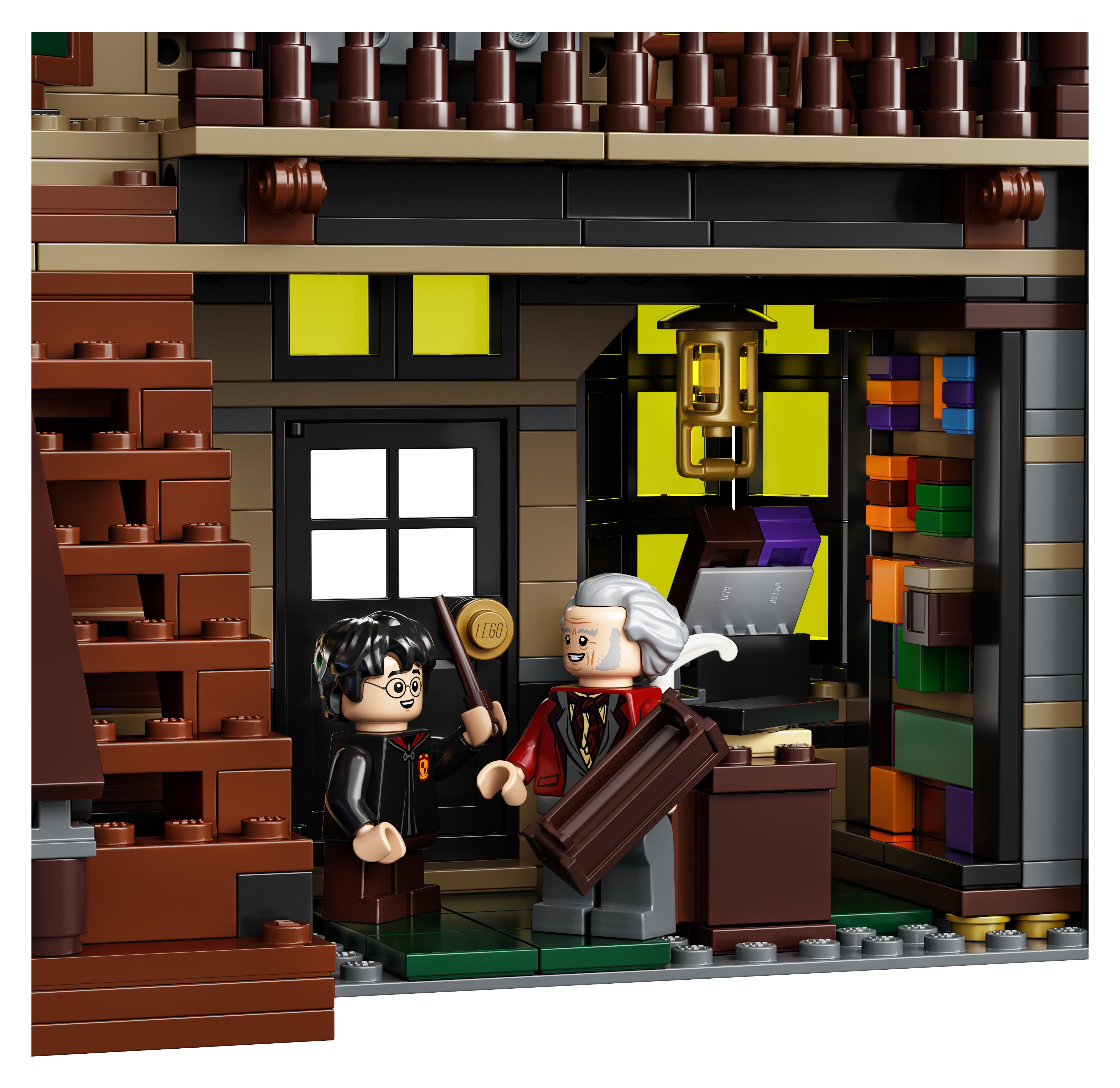 Le Chemin de Traverse en LEGO, version 2020, intérieur de Ollivanders