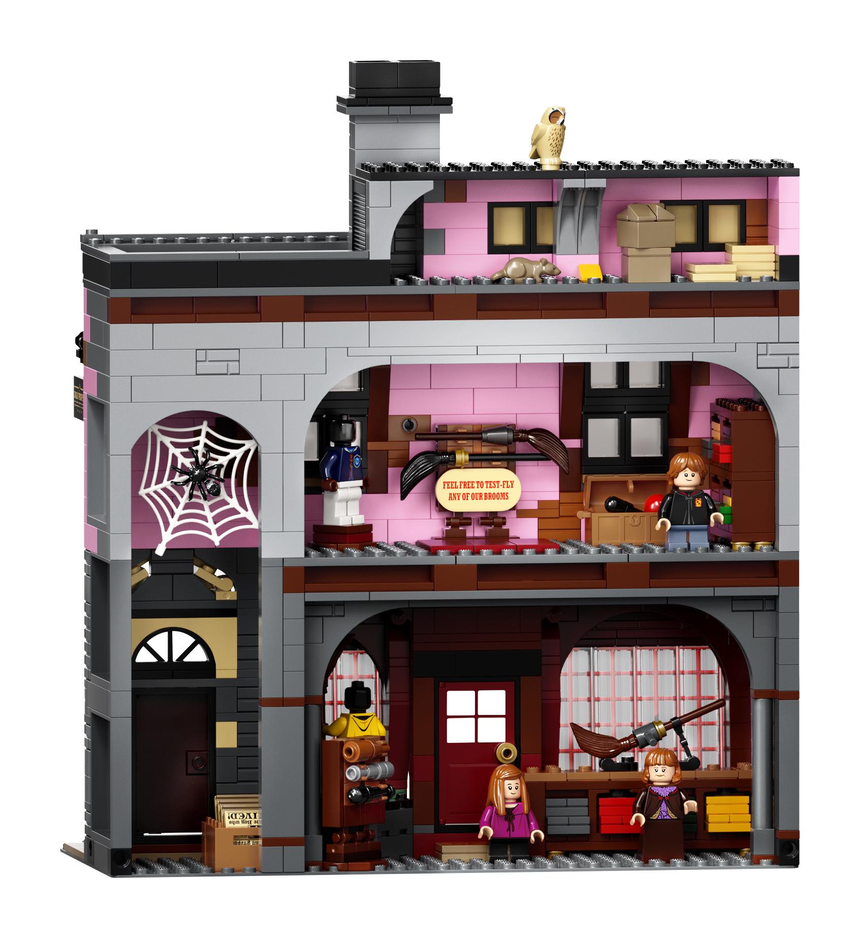 Le Chemin de Traverse en LEGO, version 2020, intérieur du magasin de quididtch