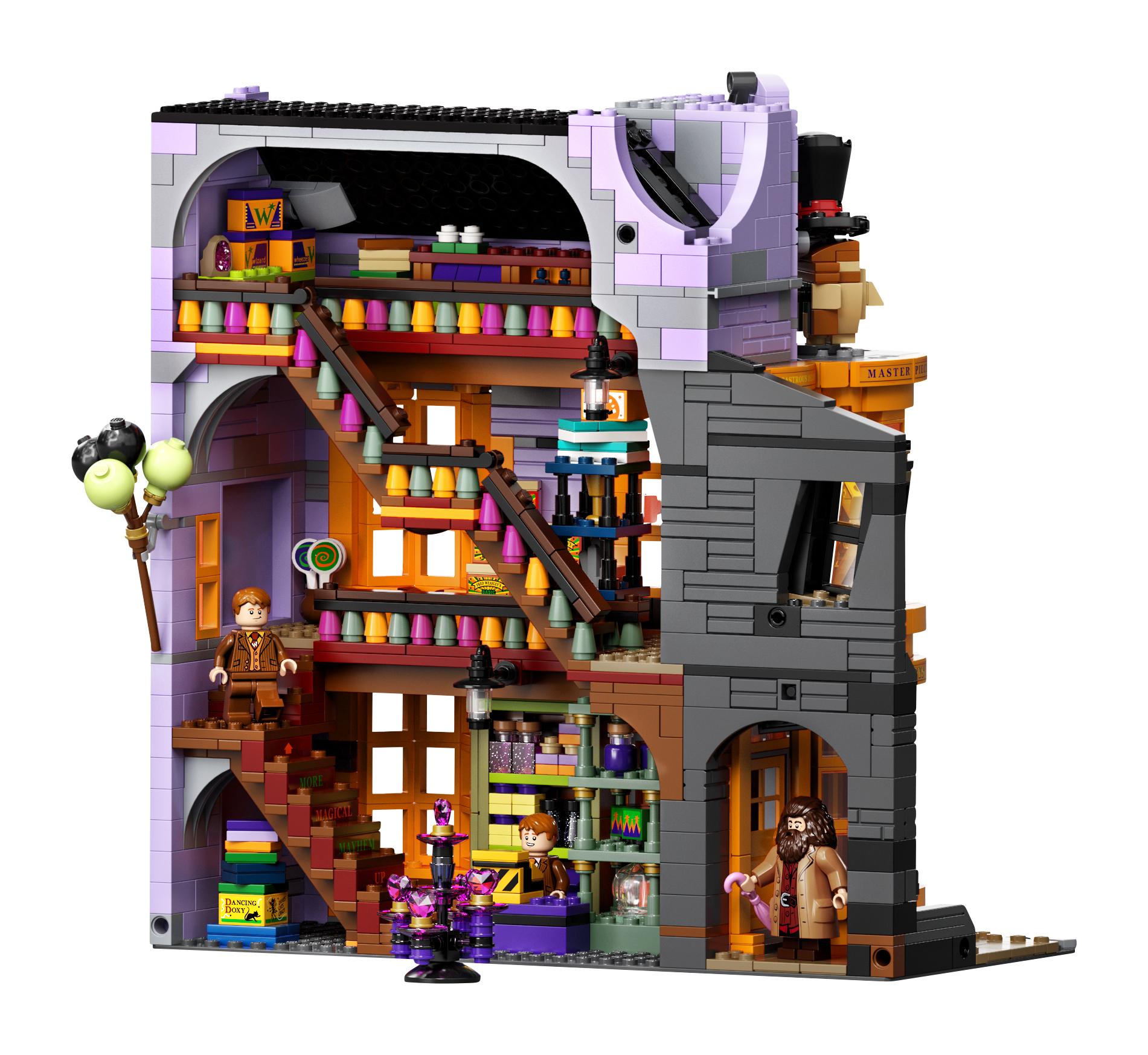Le Chemin de Traverse en LEGO, version 2020, intérieur de magasin Weasley
