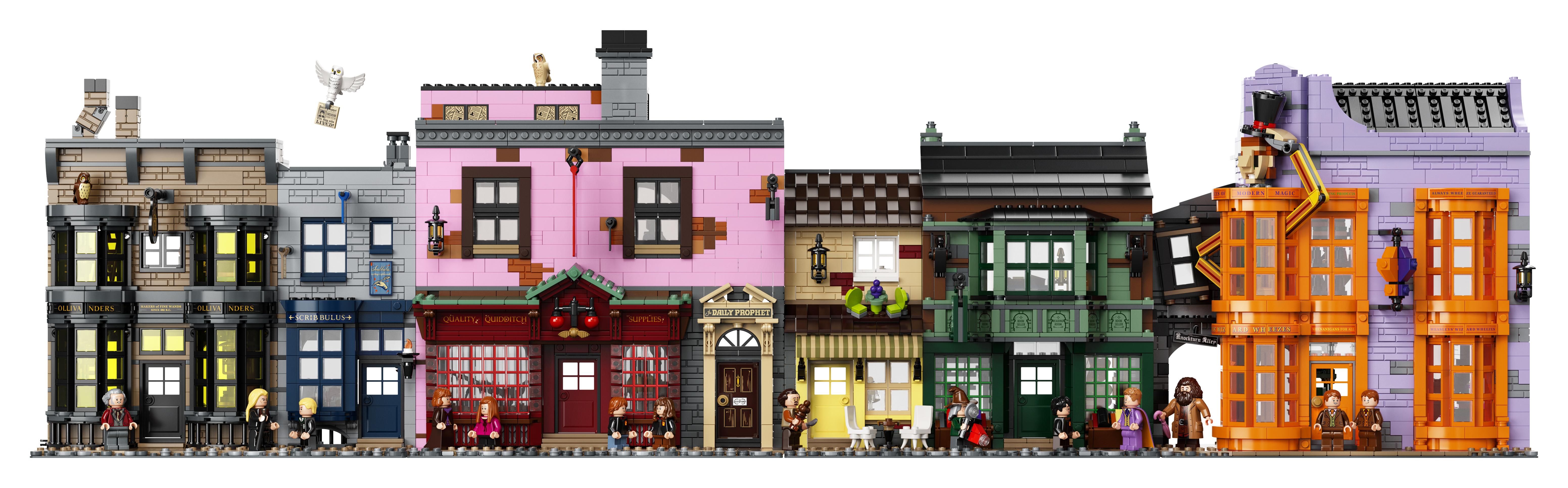 Le Chemin de Traverse en LEGO, version 2020, les façades