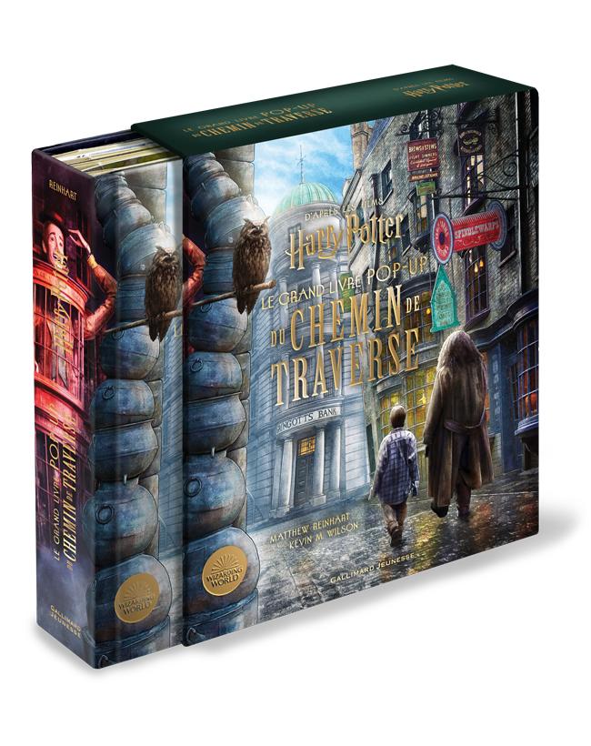Couverture du Grand Livre Pop up du Chemin de Traverse chez Gallimard Jeunesse