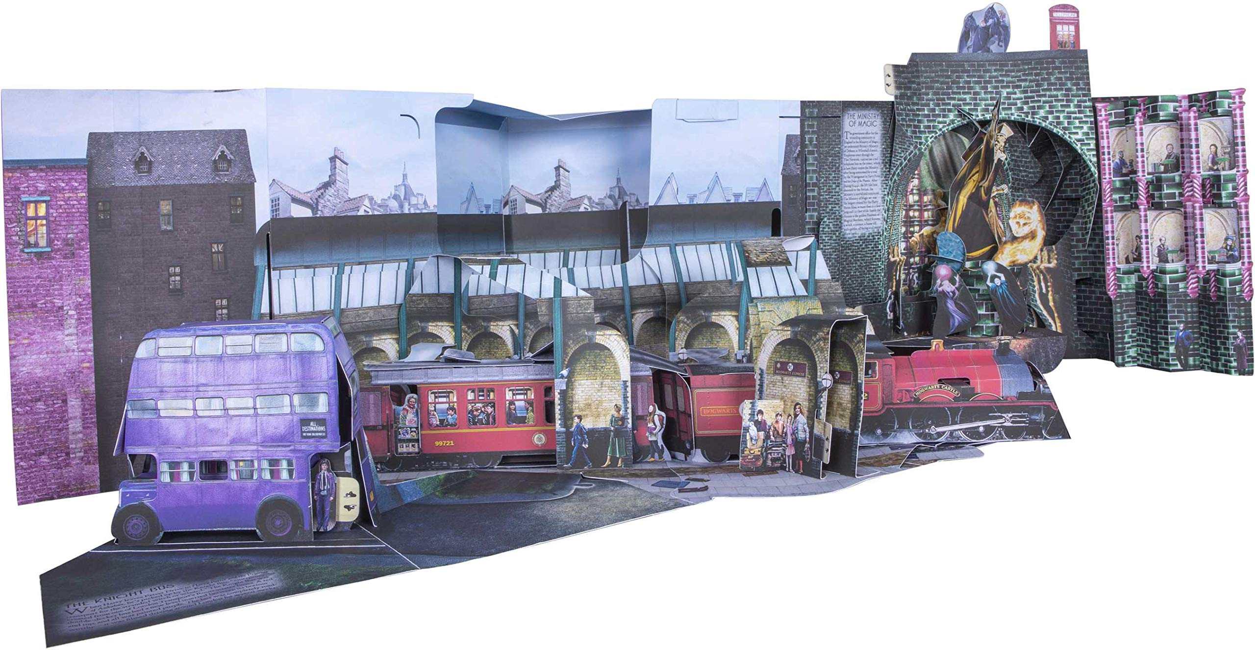 Diorama du Londres magique dans Le Grand Livre Pop up du Chemin de Traverse