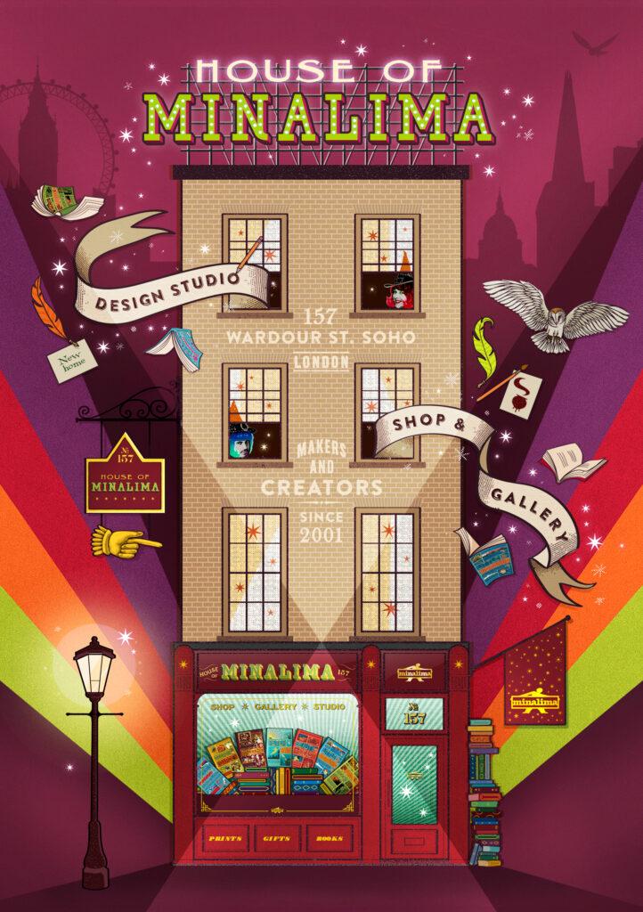 La House of Minalima dessinnée par les graphistes
