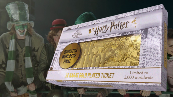 Réplique du ticket de la coupe du monde de quidditch chez Zavvi