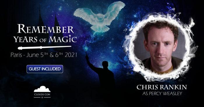 Chris Rankin se joindra aux fans français pour la convention Harry Potter «Remember Years of Magic»