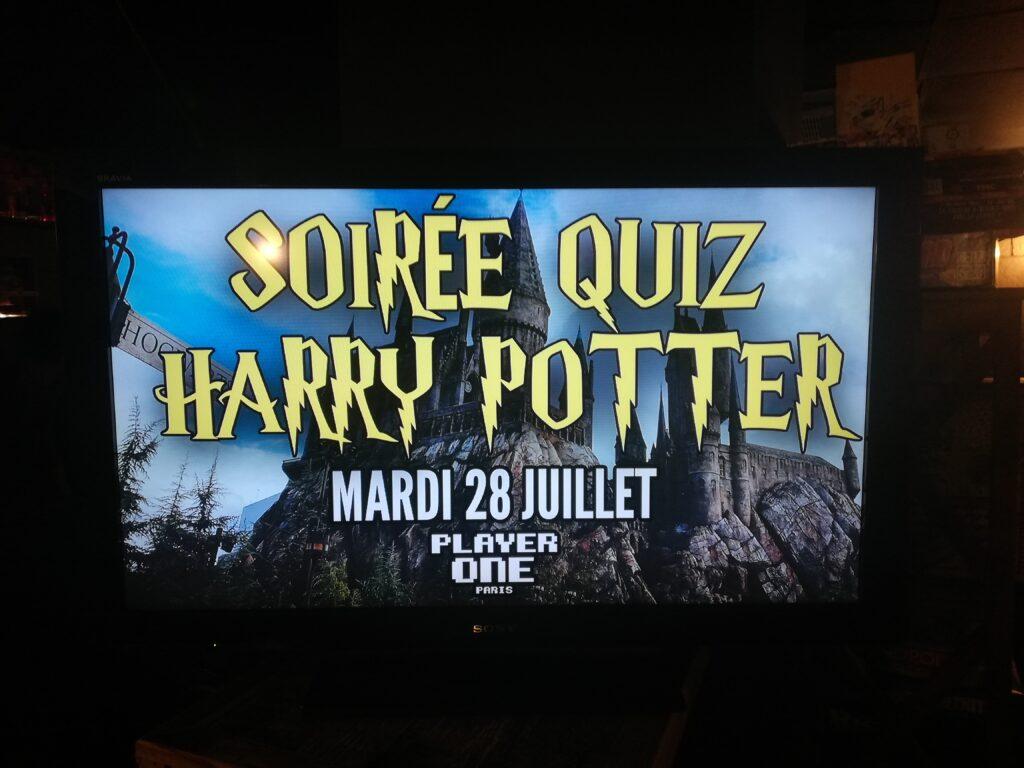 Ecran soirée Harry Potter Player One