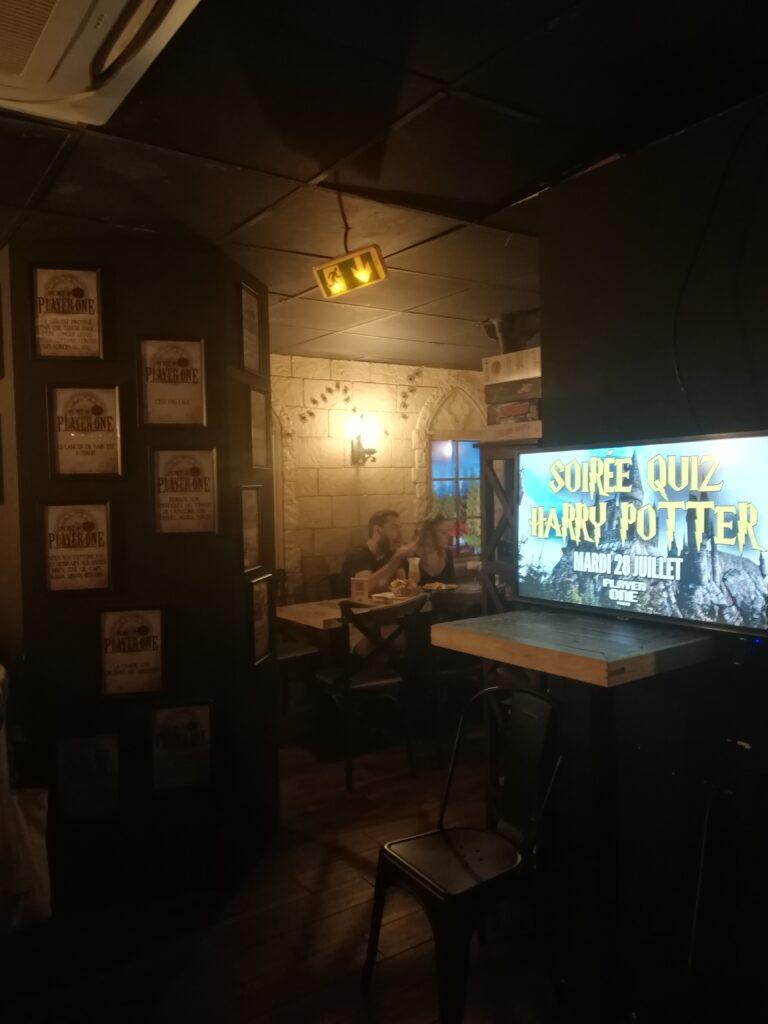 Sous sol du player One lors de la soirée quiz Harry Potter