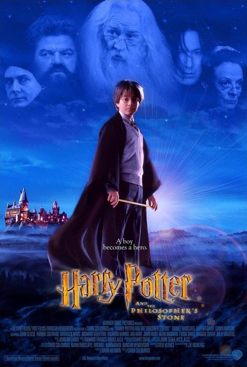 Projet d'affiche pour HArry Potter à l'école des sorciers