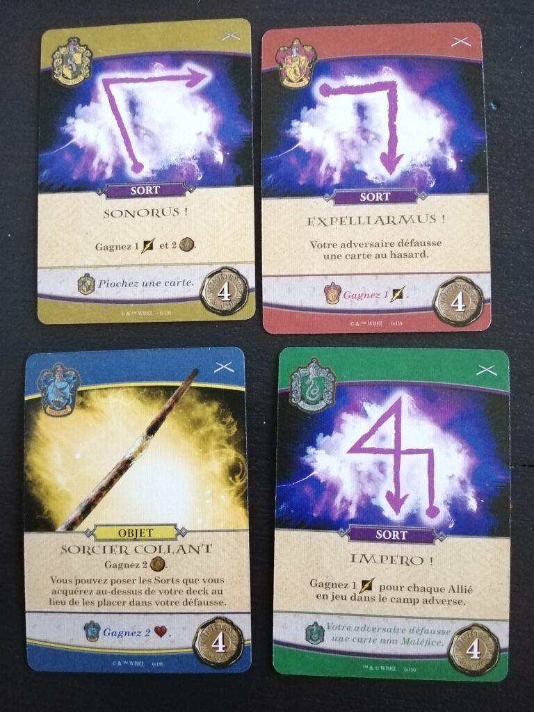 Harry Potter Hogwarts battle duel cartes-maisons-poudlard