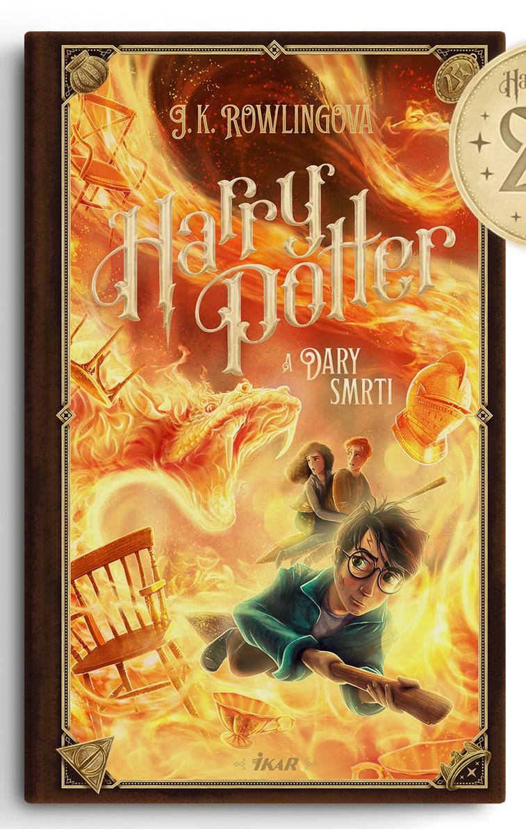 Couverture de Harry Potter et les Reliques de la Mort (Harry Potter a Dary smrti) pour les 20 ans de la saga en Slovaquie, par Adrián Macho