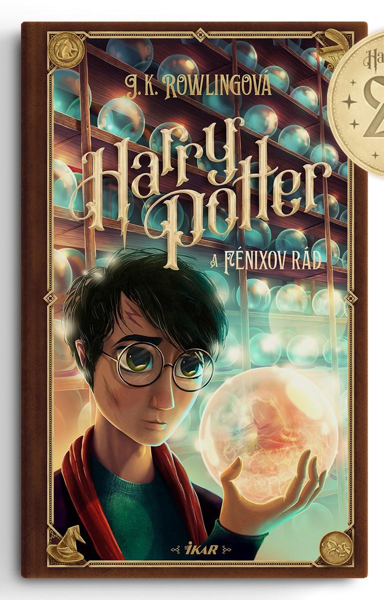 Couverture de Harry Potter et l'Ordre du Phénix (Harry Potter a Fénixov rád) pour les 20 ans de la saga en Slovaquie, par Adrián Macho