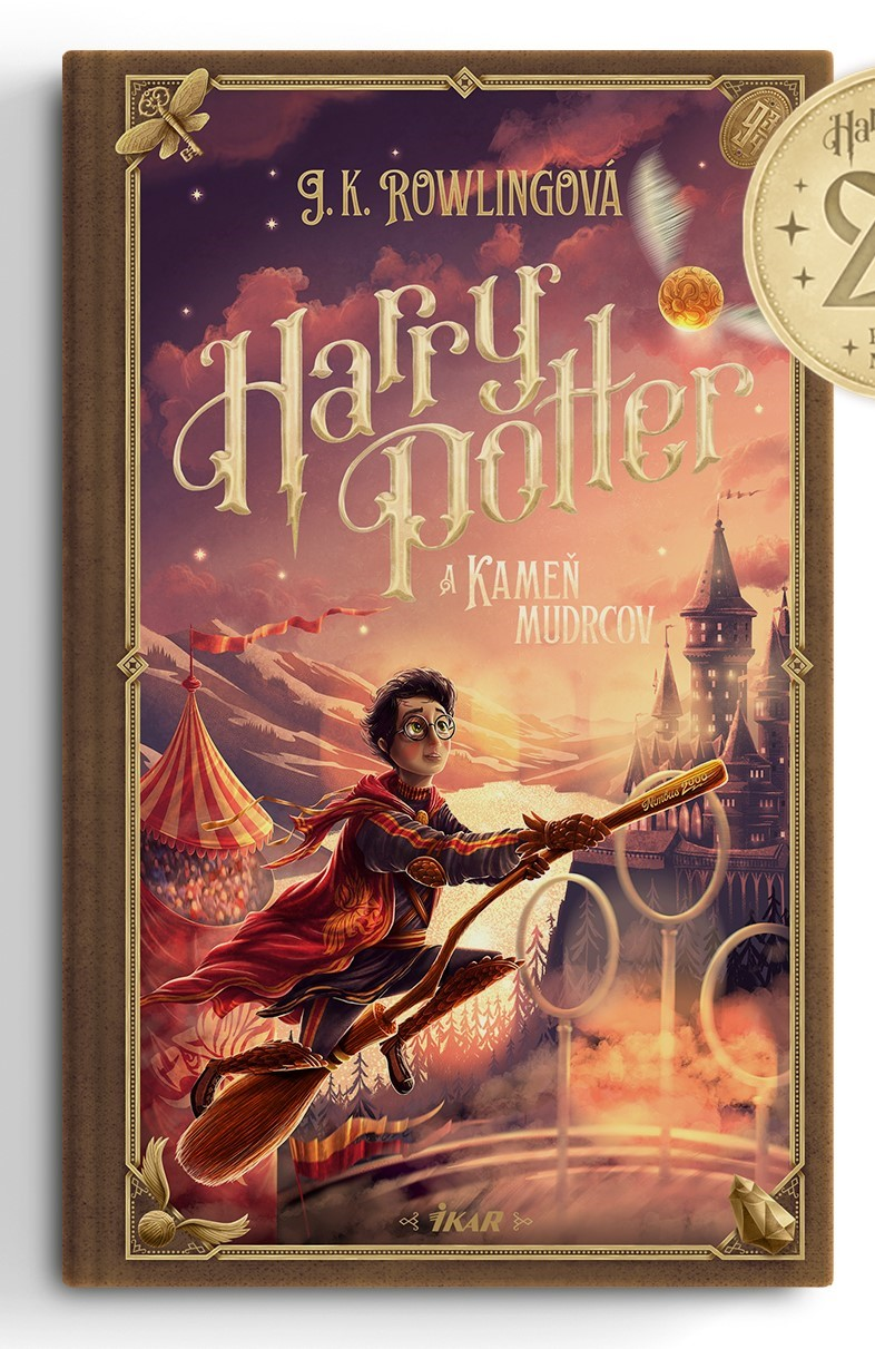 Couverture de Harry Potter à l'école des Sorciers (Harry Potter a Kameň mudrcov) pour les 20 ans de la saga en Slovaquie, par Adrián Macho
