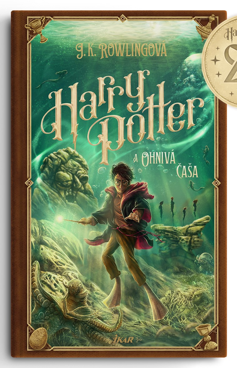 Couverture de Harry Potter et la Coupe de Feu (Harry Potter a Ohnivý pohár) pour les 20 ans de la saga en Slovaquie, par Adrián Macho