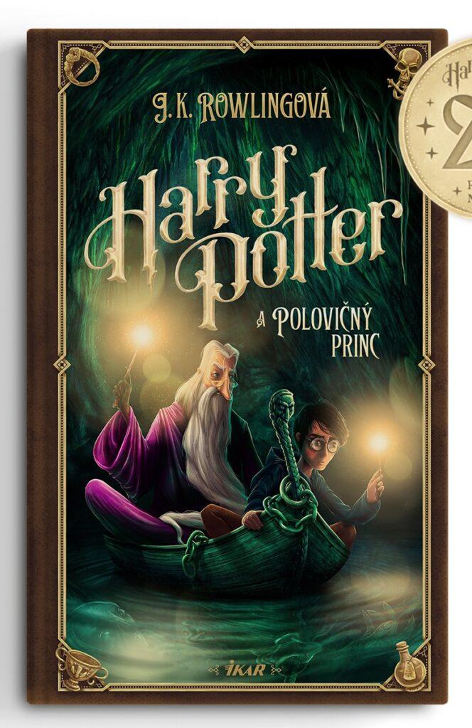 Couverture de Harry Potter et le Prince de Sang-Mêlé (Harry Potter a Polovičný princ) pour les 20 ans de la saga en Slovaquie, par Adrián Macho