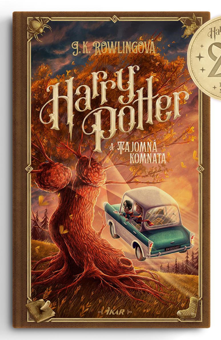 Couverture de Harry Potter et la chambre des secrets (Harry Potter a Tajomná komnata) pour les 20 ans de la saga en Slovaquie, par Adrián Macho