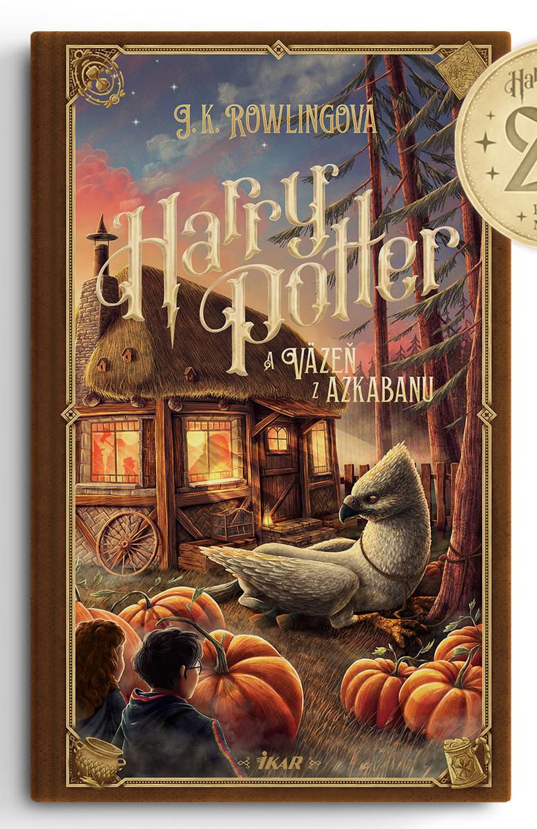 Couverture de Harry Potter et le prisonnier d'Azkaban (Harry Potter a Väzeň z Azkabanu) pour les 20 ans de la saga en Slovaquie, par Adrián Macho