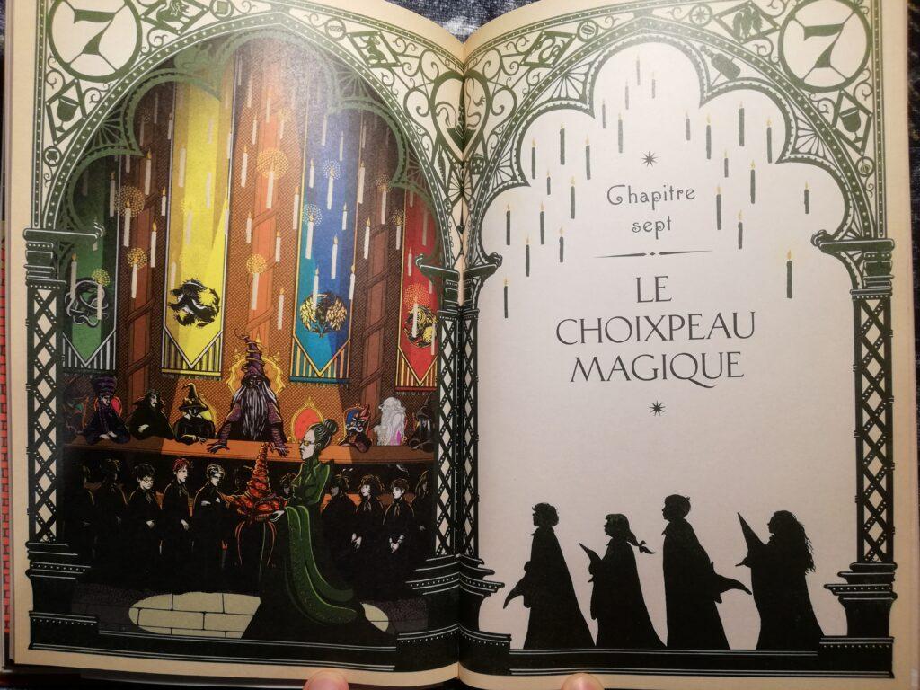 chapitre Harry Potter à l'école des sorciers minalima illustrations