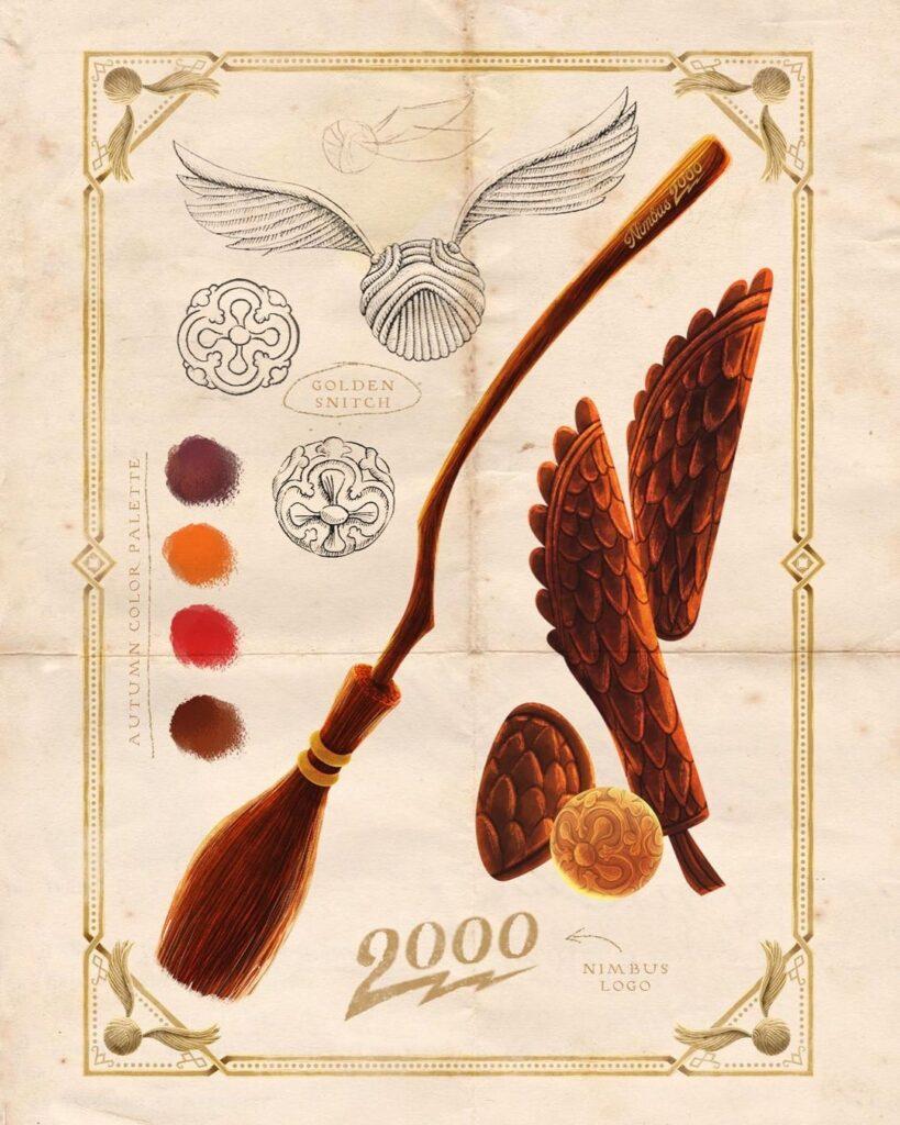 Accessoires de quidditch imaginée par Adrian Macho pour les 20 ans de Harry Potter en Slovaquie