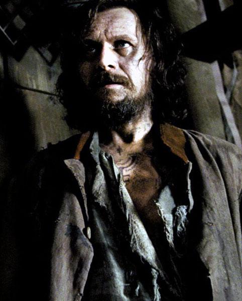 Sirius Black, interprété par Gary Oldman, dans le film Harry Potter et le prisonnier d'Azkaban