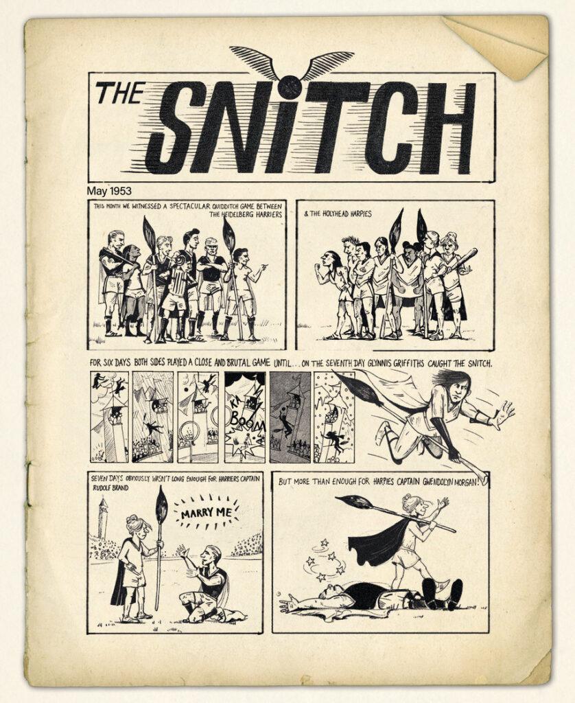 Un comic de Quidditch des années 1950
