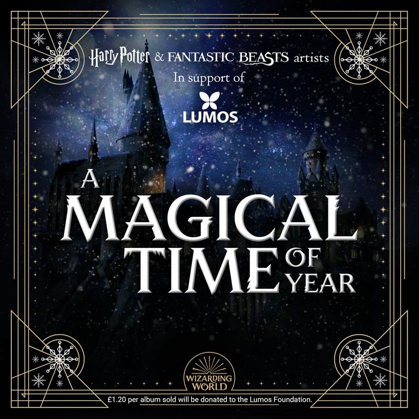 Couverture de l'album de Noël « A Magical Time of Year », par les acteurs et actrices du Wizarding World of Harry Potter, au profit de Lumos