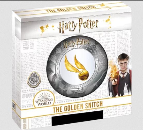 Boite Wizarding World pièce en argent Vif d'Or