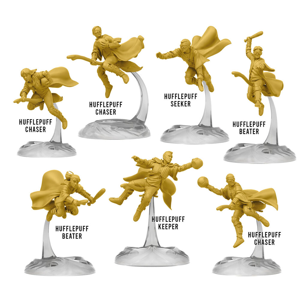 Jeu de figurines quidditch - équipe de Poufsouffle